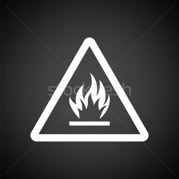 Flammable icon Stock photo © angelp