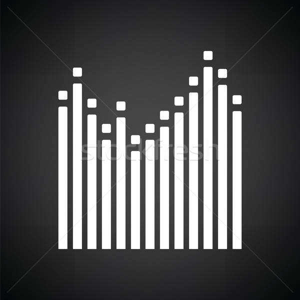 Grafik ekolayzer ikon siyah beyaz soyut radyo Stok fotoğraf © angelp