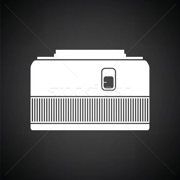 Ikon fotoğraf kamera 50 objektif siyah beyaz Stok fotoğraf © angelp
