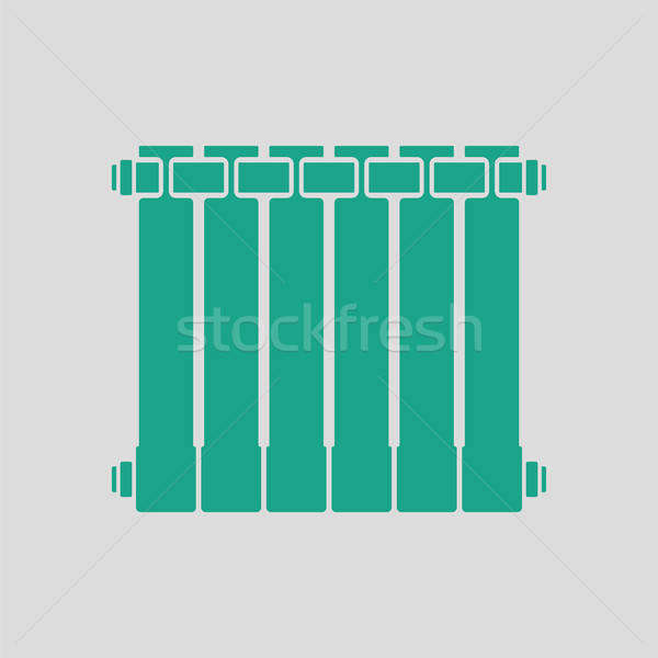 Icona radiatore grigio verde segno web Foto d'archivio © angelp