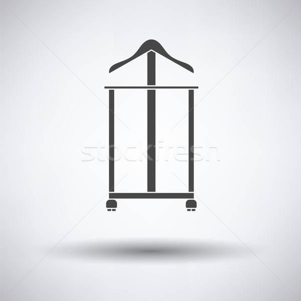 ハンガー スタンド アイコン グレー 家 木材 ストックフォト © angelp