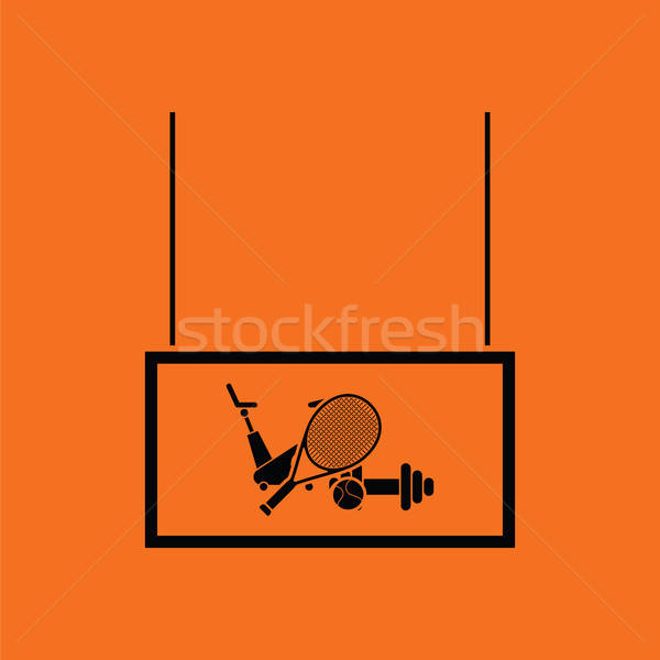 Sport Waren Markt Abteilung Symbol orange Stock foto © angelp