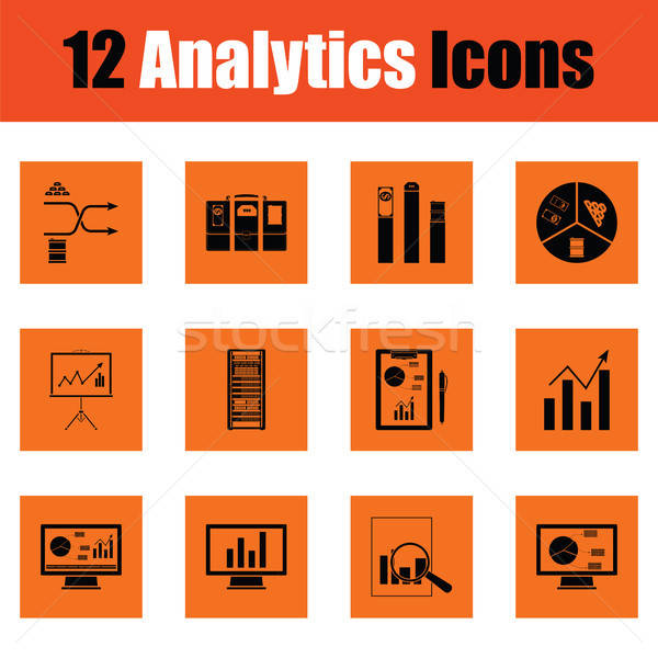 Stock photo: Analytics icon set