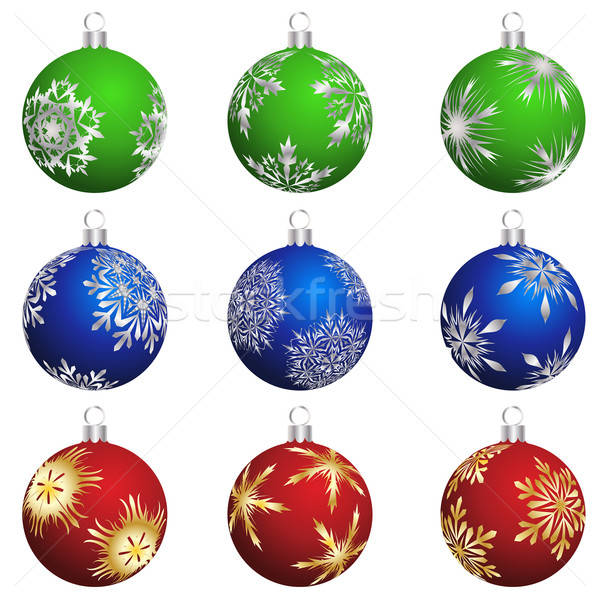 Stock photo: christmas balls set