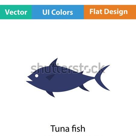 Fish icon Stock photo © angelp