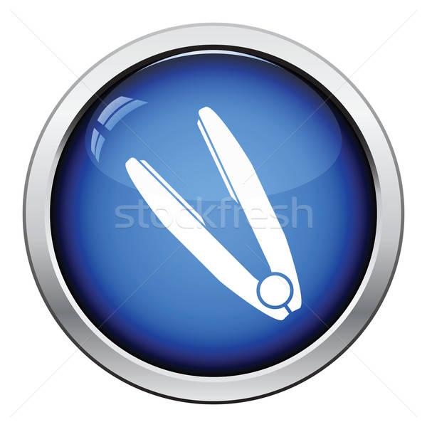 Hair straightener icon Stock photo © angelp