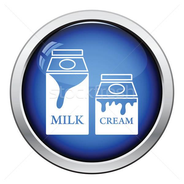 Milk and cream container icon Stock photo © angelp