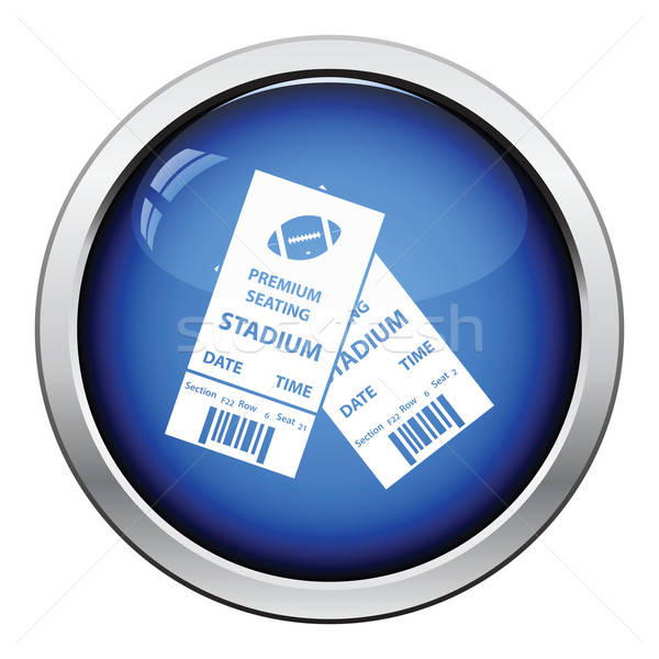 American football tickets icon Stock photo © angelp