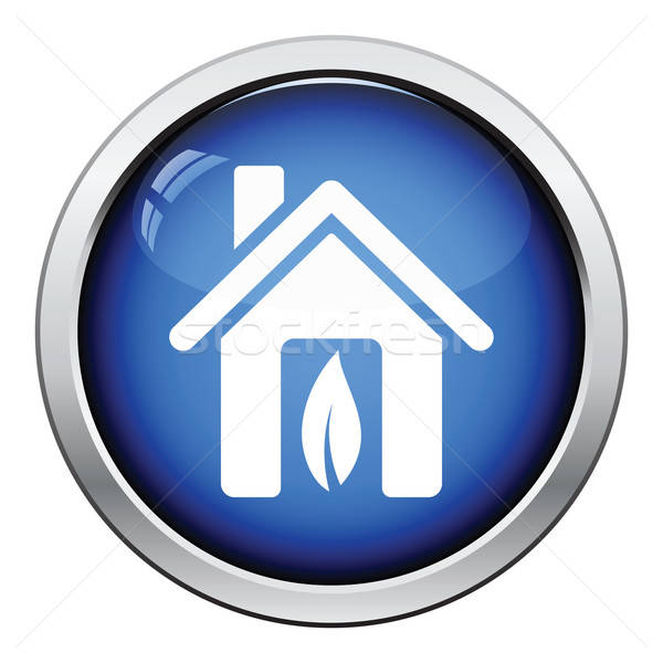 Ecological home leaf icon Stock photo © angelp