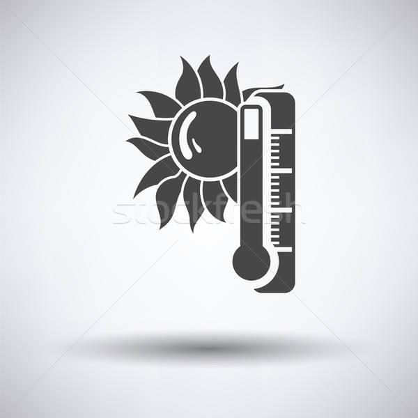 Estate calore icona grigio sole design Foto d'archivio © angelp