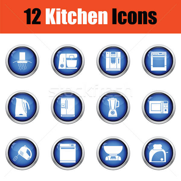 Kitchen icon set.  Stock photo © angelp