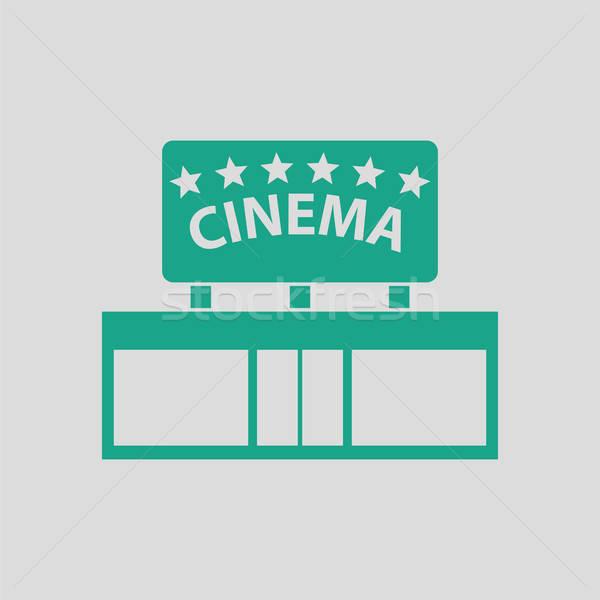 кино вход икона серый зеленый здании Сток-фото © angelp
