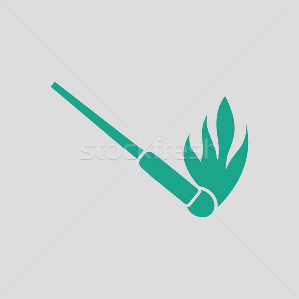 Burning matchstik icon Stock photo © angelp