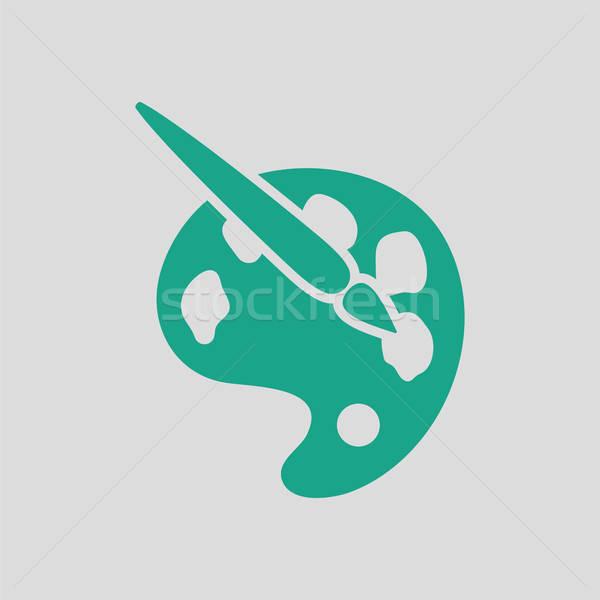 パレット おもちゃ グレー 緑 赤ちゃん 作業 ストックフォト © angelp