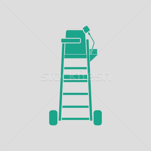 Tenisz döntőbíró szék torony ikon szürke Stock fotó © angelp