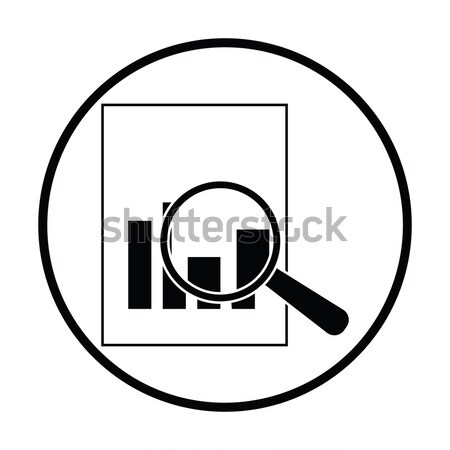 Fenséges üveg papír diagram ikon fényes Stock fotó © angelp