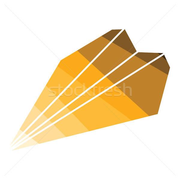 Сток-фото: бумаги · плоскости · икона · цвета · дизайна · небе