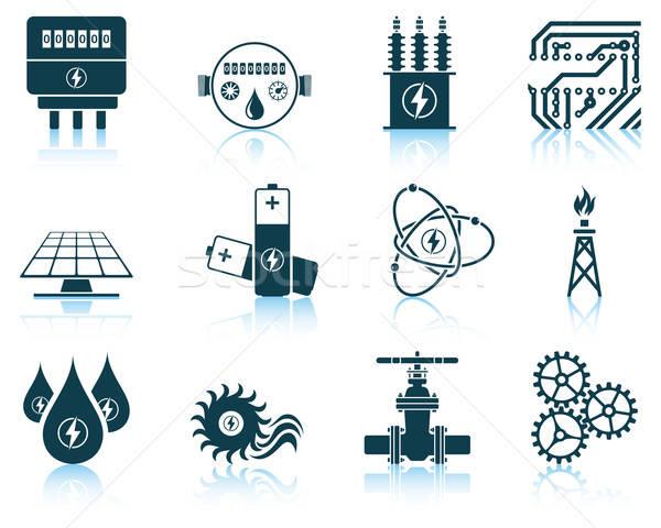 Set of energy icons Stock photo © angelp