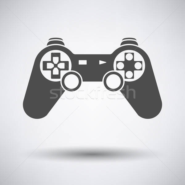 Gamepad icône gris ordinateur sport design Photo stock © angelp