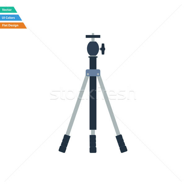 Flat design icon of photo tripod Stock photo © angelp