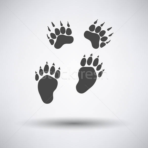 Stock photo: Bear trails  icon
