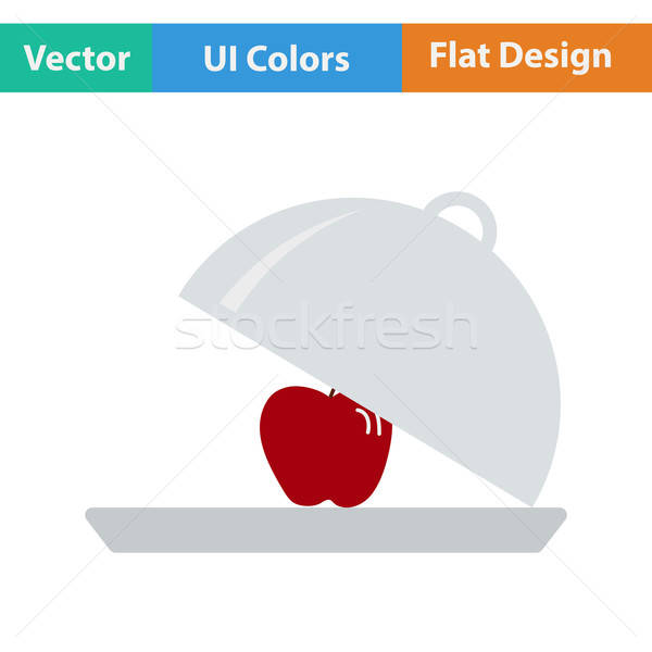 Design icône pomme à l'intérieur ui couleurs Photo stock © angelp