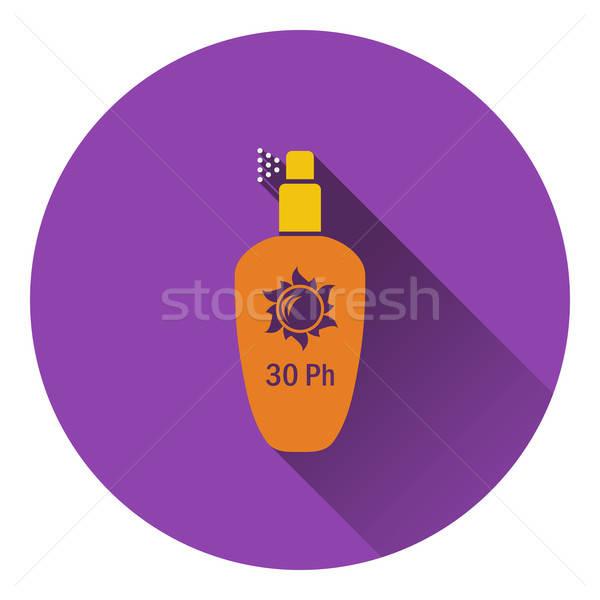 Nap elleni védelem spray ikon terv nyár felirat Stock fotó © angelp