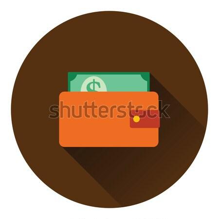 бумажник наличных икона цвета дизайна торговых Сток-фото © angelp
