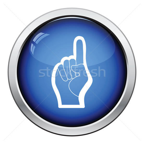 Fan foam hand with number one gesture icon Stock photo © angelp