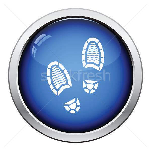 Man footprint icon Stock photo © angelp