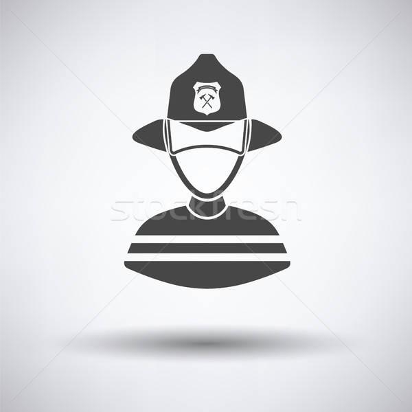 Stock photo: Fireman icon