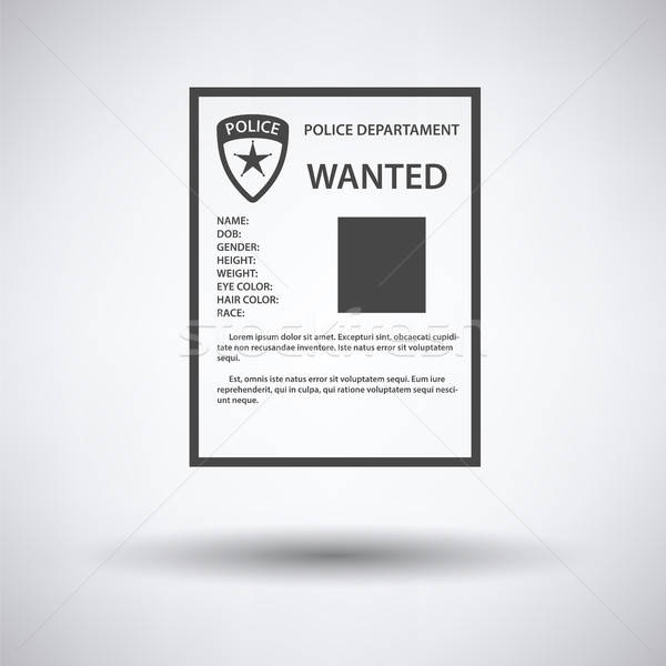 Wanted poster icon  Stock photo © angelp