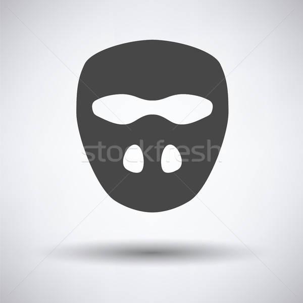 Foto stock: Críquete · máscara · ícone · cinza · esportes · cabeça
