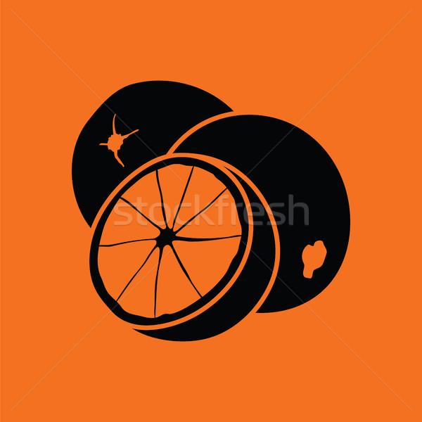 Orange icon Stock photo © angelp