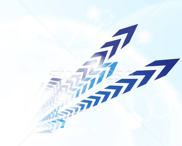 Technological blue background Stock photo © angelp