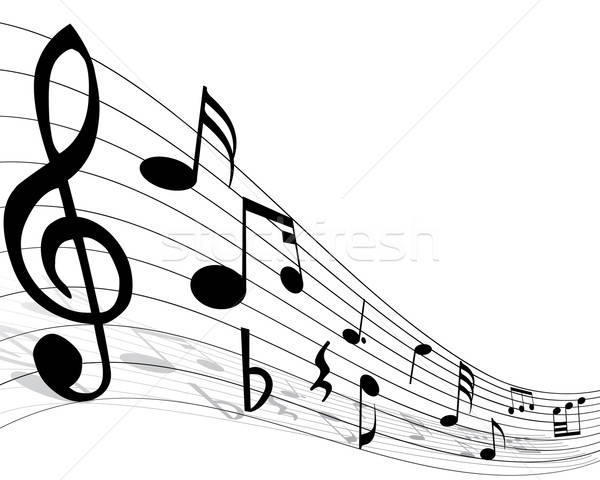 musical note staff Stock photo © angelp