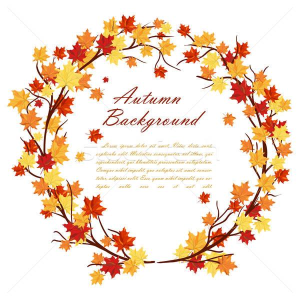 Stock photo: Autumn  Frame