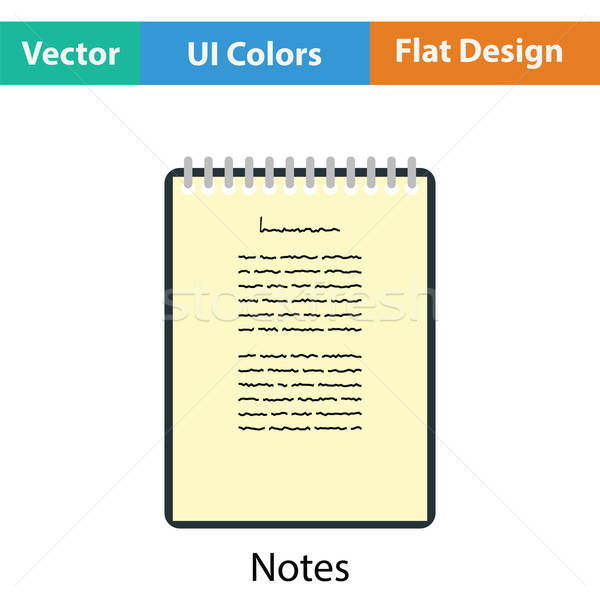 Binder notebook icon Stock photo © angelp
