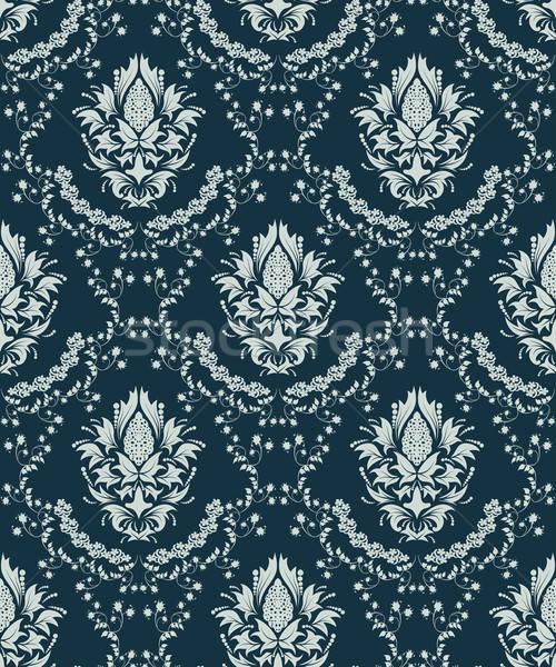 Végtelenített damaszt minta vektor könnyű készít Stock fotó © angelp