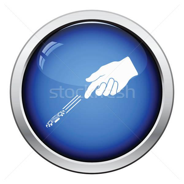 Strony Gamble chipy ikona Zdjęcia stock © angelp
