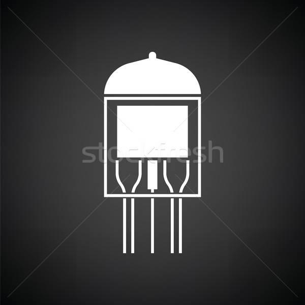 électronique vide tube icône blanc noir technologie Photo stock © angelp