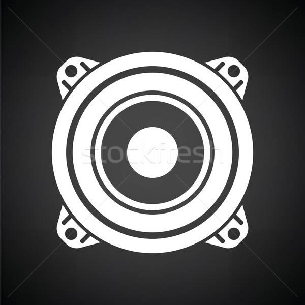 ラウドスピーカー アイコン 黒白 パーティ デザイン 技術 ストックフォト © angelp