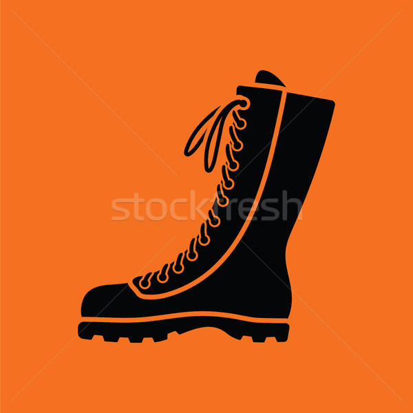 Hiking boot icon Stock photo © angelp