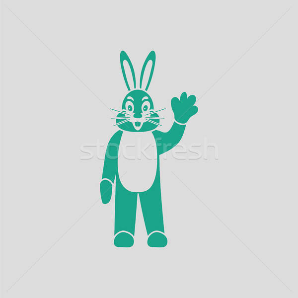 Hare puppet doll icon Stock photo © angelp