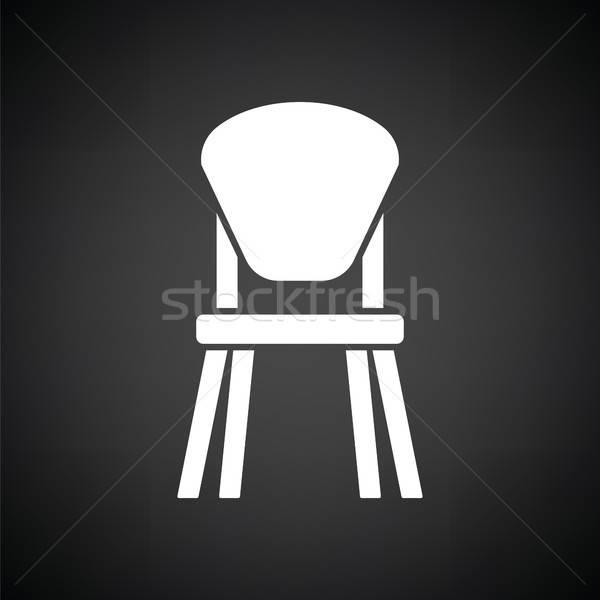 Nino silla icono blanco negro casa fondo Foto stock © angelp