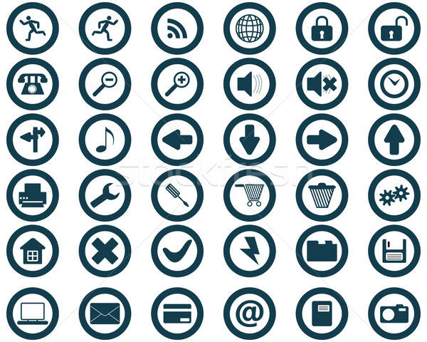 Сток-фото: коллекция · различный · иконки · веб-дизайна · бизнеса