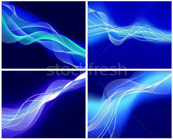 set of neon glow backgrounds Stock photo © angelp