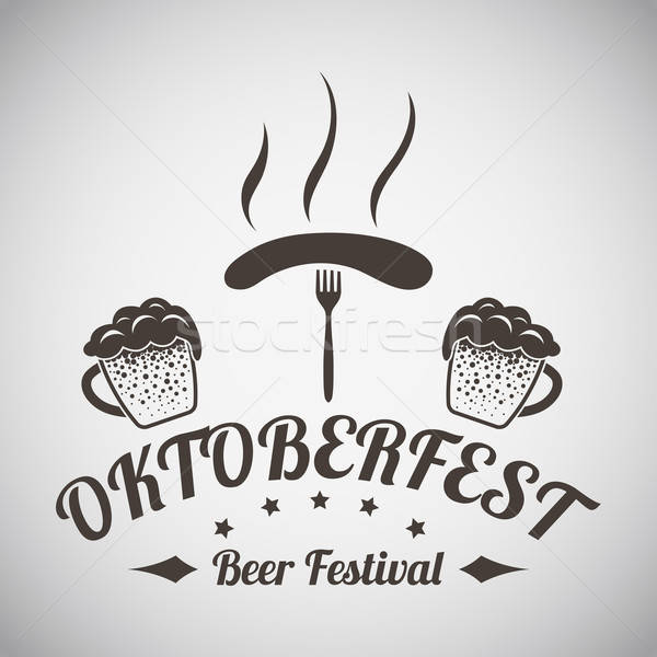 Oktoberfest Emblem Stock photo © angelp