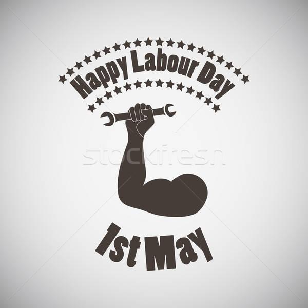 Labour Day Emblem Stock photo © angelp