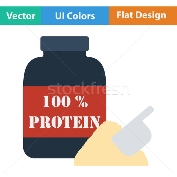 Diseno icono proteína ui colores alimentos Foto stock © angelp